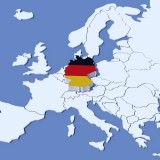 Map Of Europe With Germany Highlighted.Highlighted Germany On Map Of Europe With National Flag Sagefox