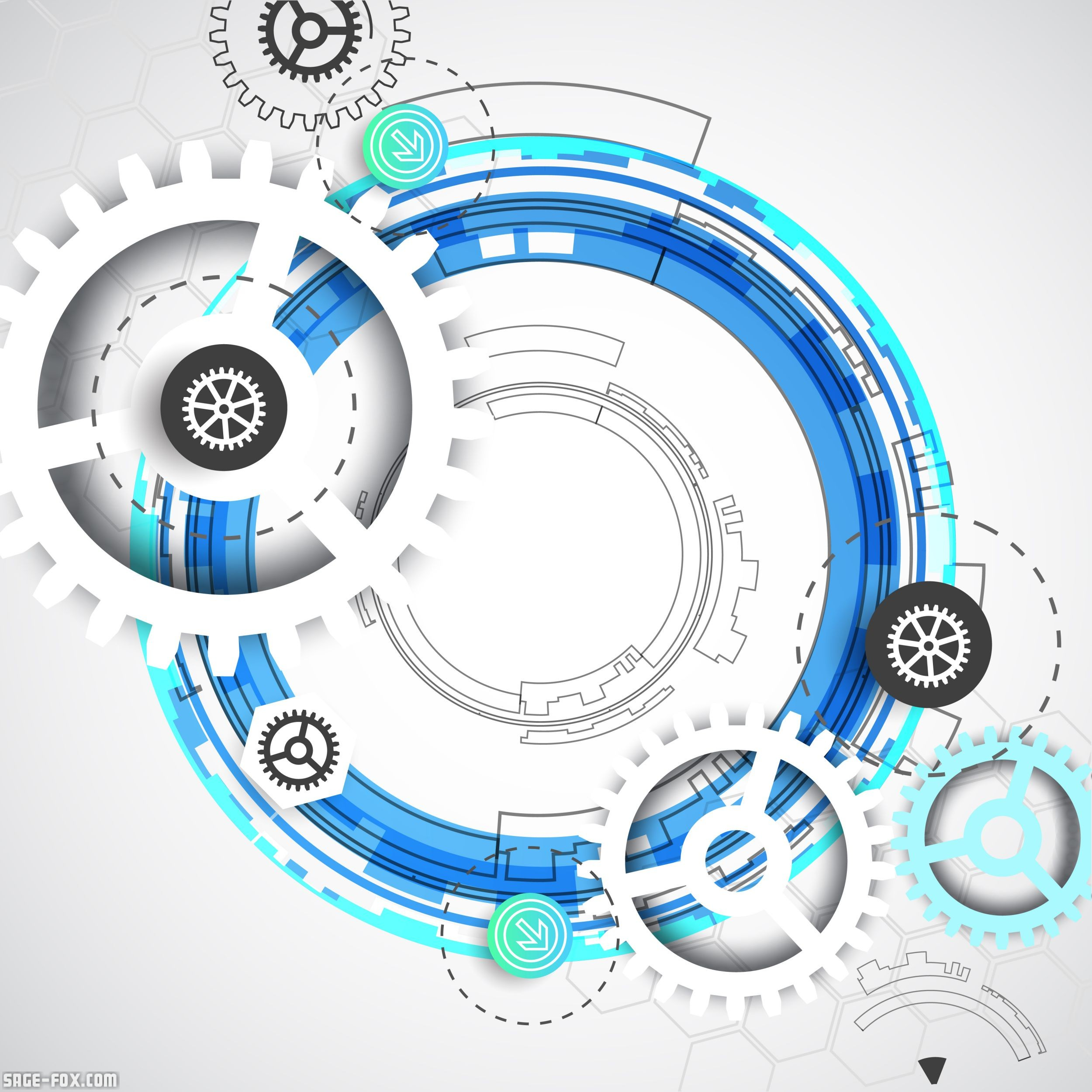 Abstract digital communication technology background ...